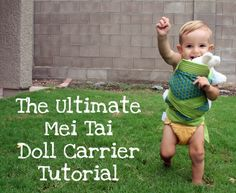 The Shopping Mama » Mei Tai Doll Carrier Tutorial {Mindful Mama}  uses fat quarters