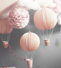 Craft room diy baby shower 22 New Ideas Air Balloon, Balloons, Balloon Party, Diy For Kids, Crafts For Kids, Diy Pinterest, Papier Diy, Diy And Crafts, Paper Crafts
