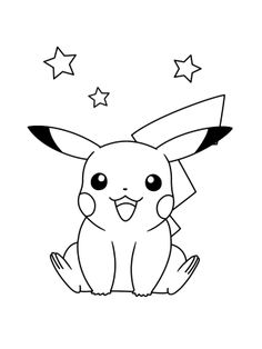 Pikachu Outline With Pokemon Coloring Pages Pikachu Cartoons Printable  Coloring Pages : Pikachu Outline With Pokemon Coloring Pages Pikachu  Cartoons ...