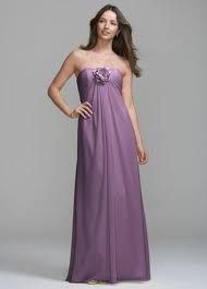 """Hey @Tiffany Jen ...I can't find any other dresses with the color """"VICTORIAN LILAC"""" ...but this is called Wysteria and is $110 from David's Bridal and is chiffon. Style VC307 and the flower is detachable.  Thoughts?"""