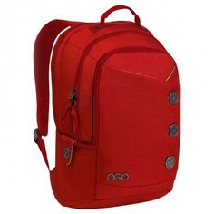 Red Ogio backpack designed specifically for women