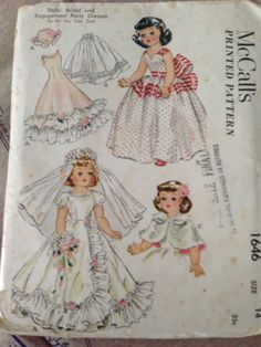 1950s Vintage Doll Pattern for Bride Dress and by SylviasFinds, $7.00