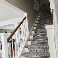 I usually get asked what my most loved project is to date. I have done many DIY and home improvements over the years. We love the carpet decoration in this project Foyers, Home Design, Staircase Remodel, Staircase Makeover, Carpet Stairs, Carpet Runners For Stairs, Hall Carpet, Staircase With Runner, Pattern Carpet On Stairs