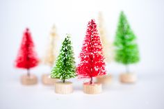 Fancy Pants - Tiny Trees - Scrapbook.com- Wouldn't these tiny trees be perfect window sill or fireplace decorations?