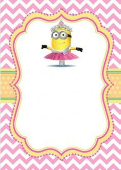 Printable girl minion party invitation. You are welcome! Minion Party Theme, Minion Birthday Invitations, Baby Invitations, Minion Baby Shower, 4th Birthday Parties, 3rd Birthday, Birthdays, Myla, Party Ideas