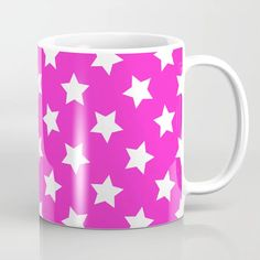 Buy pink stars Coffee Mug by Andrew Degenhardt. Worldwide shipping available at Society6.com. Just one of millions of high quality products available. Star Coffee, Coffee Mugs, Pink Stars, Meet The Artist, Drinkware, Artwork, Products, Tumbler, Work Of Art