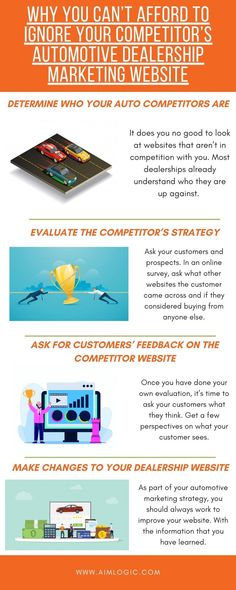 If you want to gain an edge over the other dealers in your area, you need to do some research. By evaluating what your competition is doing right and where they could improve, you will learn to fill in the gaps and appeal to the customers. Marketing Data, Digital Marketing Strategy, Digital Marketing Services, Phone Companies, Email Campaign, Data Science, Gain, Competition, Fill