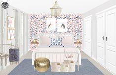 Bohemian, Transitional, Preppy Bedroom Design by Havenly Interior Designer Vivian Preppy Bedroom, Big Girl Rooms, Bohemian Decor, Design Process, Toddler Bed, Interior Design, Inspiration, Furniture, Home Decor