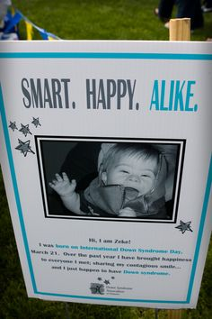 Great example of signs to display around your Buddy Walk venue.  (From the DFRC 2011 Blue*Gold Buddy Walk and Picnic; www.jenniemauk.com)