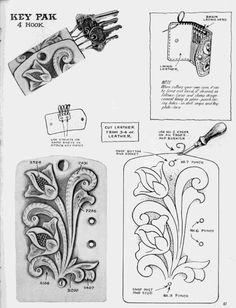 Gallery.ru / Photo # 53 - shtolman + sketches + to + + stamping + carving leather - vihrova