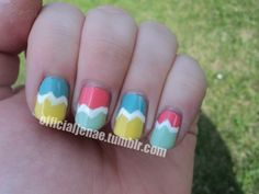 Easter Egg Nails--an easy excuse to break out all those colors you have a hard time finding a use for