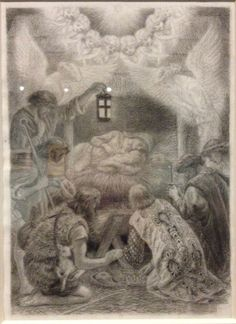"""""""The Adoration of the Kings and Shepherds"""" by Arthur Hughes"""