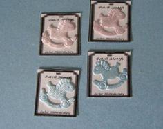Parche motivo ~ caballo ~ 4pk ~ sala de coser mercería tienda ~ casa de 12 muñecas miniatura
