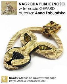 Anna Fabijańska Soutache Pendant, Soutache Jewelry, Beaded Jewelry, Animal Jewelry, Jewelry Art, Ribbon Art, Diy Rings, Leather Jewelry, Shibori