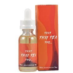 That Thai Tea Tho - A rich, inviting flavor filled with sweet milk and a delicate touch of spicy oriental tea. A wholely unique ejuice unlike anything you've tried this year. Combined with eye-catching packaging, this juice is sure to be a hot seller.MAX VG