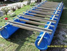 Image result for home made pontoon
