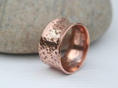 Chunky Forged Copper Ring,  size U,   R31 £9.80