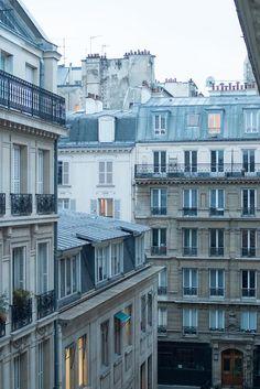 Paris Photography, The Blue Hour, Right Bank Paris, Parisian Rooftops, soft blue and grey, Paris, Fr