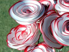 Hey, I found this really awesome Etsy listing at https://www.etsy.com/listing/166932938/red-white-paper-flowers-wedding-bouquet