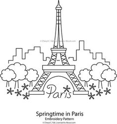 Springtime in Paris Pattern