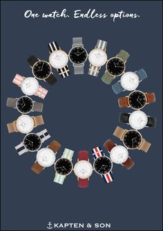 One Watch. Endless Options. Kapten & Son