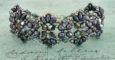 Linda's Crafty Inspirations: Bracelet of the Day: Flutter - Orchid Aqua