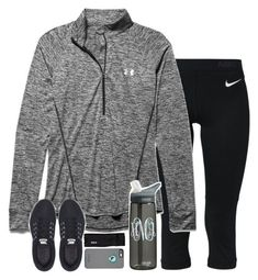 if i was a runner by sarahc-01 ❤ liked on Polyvore featuring NIKE, Under Armour, Patagonia, womens clothing, women, female, woman, misses and juniors #weightlifting
