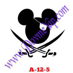 Kuru Kafa - İskelet Geçici Dövme Şablon Örneği Model No: A-12-5