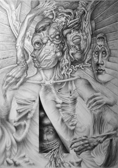 Anatomy of a nightmare - Drawing by Bernard Dumaine. S)