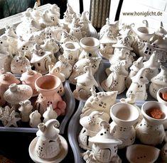 Produktionsphase Keramik Elfenhäuschen Windlichter