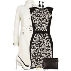 White & Black Formal, created by jafashions on Polyvore