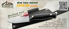 WOODLAND TRAIL KNIFE GIVE-AWAY! From: TheKnifeConnection.net  Now is your chance to win a beautiful Black Canvas Micarta Woodland Trail knife, Made by LT Wright Knives, and sold exclusively at TheKnifeConnection.net. Entering to win is easy! Details at www.theknifeconnection.net/giveaway/