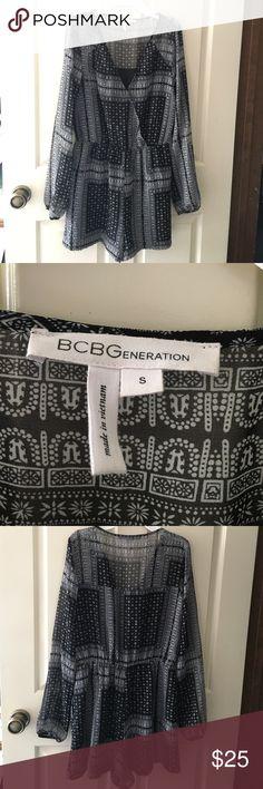 BCBGeneration romper Black and white patterned romper BCBGeneration Other