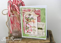 Christmas in July Cards - II using Polly's Paper Studio Images www.sheilarumney.com