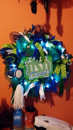Lady Dons Cheerleading Wreath