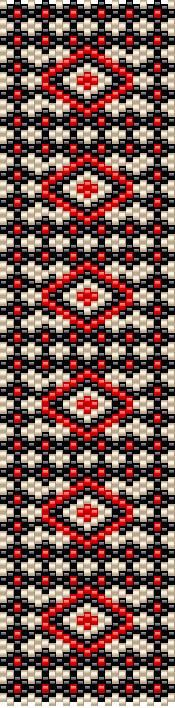 Today's pattern - odd count peyote, versatile pattern that can be achieved with different colors. If you would like to have the PDF, feel free to contact me :)