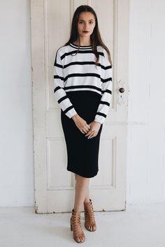 pierra knitted crop - stripe |