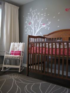 hot pink and gray nursery | Gray & Pink, created by cbrile