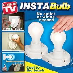 For my lightless closets...As Seen on TV Insta Bulb. never saw it on tv. does walmart have it?