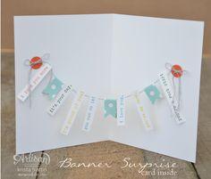 Stampin' Dolce: Banner surprise card - Artisan Design Team Blog Hop