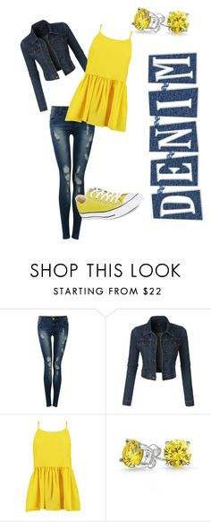"""""""Sunshine"""" by chaplin-hannah ❤ liked on Polyvore featuring Pilot, LE3NO, Boohoo, Bling Jewelry and Converse"""