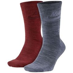 Men's Nike 2-pack Knit-In Crew Socks ($18) ❤ liked on Polyvore featuring men's fashion, men's clothing, men's socks, brown over, mens knit socks, mens brown socks, mens socks, mens crew socks and mens compression socks