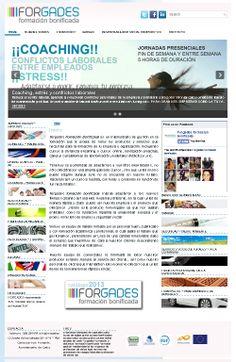 Diseño Web + identidad corporativa para empresa de formación FORGADES