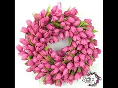 ▶ How to Make a Tulip Wreath - YouTube. So pretty and can easily use any flower!!!
