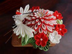 松竹梅鶴 ⋞紅白⋟ 幸せをいっぱいに詰め込んで。 ヘアコーム 2x