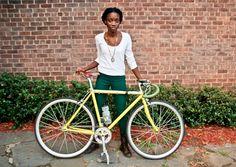 Laura Solis WE Bike NYC Her Bike Style on Iva Jean