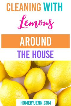 Cleaning with lemons will leave any area smelling fresh and clean. There are so many ways you can clean with lemons. I'm going to show you what to clean with lemons around the house. Lemons might just become your favorite cleaning tool! via @homebyjenn Cleaning Routines, Daily Routines, Cleaning Hacks, Gross Food, All Purpose Cleaners, Video Home, Decluttering, Natural Living, Spring Cleaning