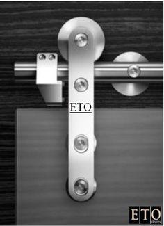 Stainless Steel Sliding Barn Hardware SSGD02 | Bypass/Sliding Doors  Optional Glass available