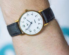 Unused quartz watch gold plated unisex watch Ray by SovietEra