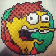 Barney - The Simpsons hama beads by xuxesantandreu